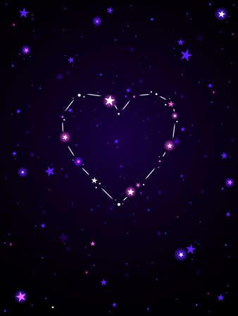 Liefdesconstellatie Stock Illustratie
