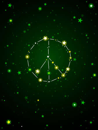 Constellation of peace Stock Vector - 9571122