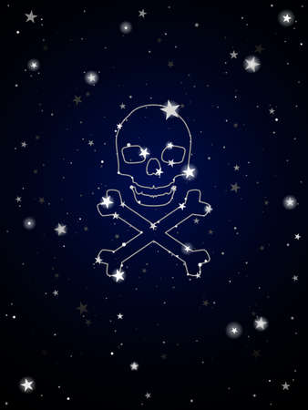 night: Constellation of death Illustration