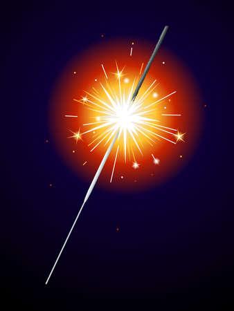 sparkler: Lit sparkler