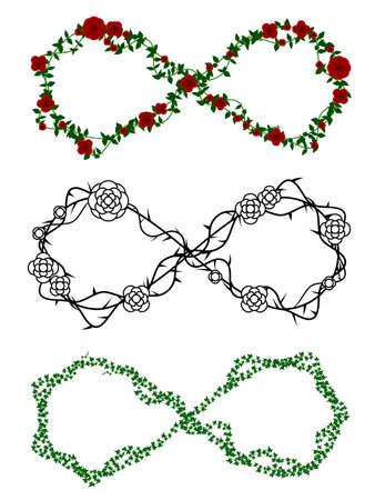 Vine infinity symbols Vectores