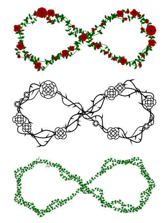 Vine infinity symbols Ilustracja