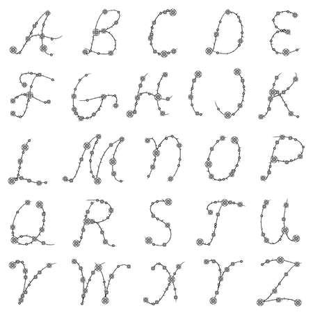 Thorn alphabet Stock Vector - 9711129