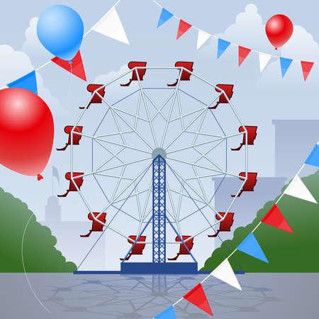 Ferris wheel Vettoriali