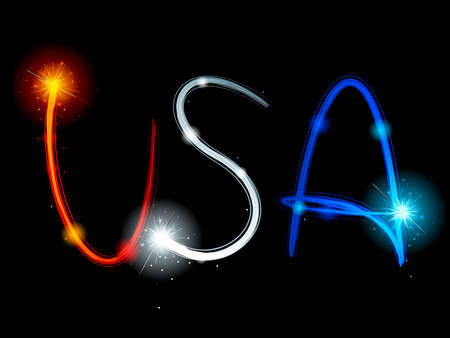 streaks: USA sparkler streaks Illustration