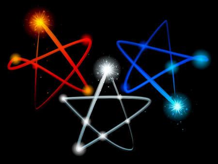 light streaks: Light trail stars Illustration