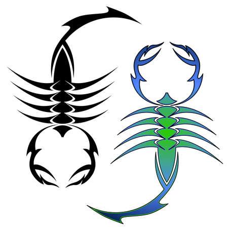 Símbolos de escorpión Foto de archivo - 9752468
