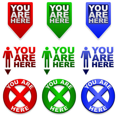 You are Here map markers
