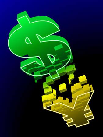 yuan: US dollar changes to Chinese Yuan
