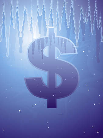 recession: Frozen assets Illustration