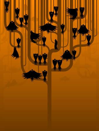 corvo imperiale: Crows in un albero stilizzato