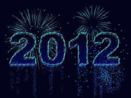 2012 in fireworks Stock Vector - 10436806
