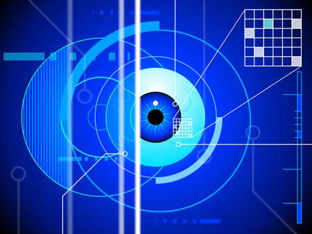 globo ocular: Retina fondo exploración Vectores