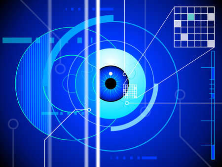 globo ocular: Retina fondo exploraci�n Vectores