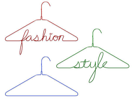 Coat hangers with messages