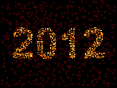 2012 spelled in blurry lights Ilustrace