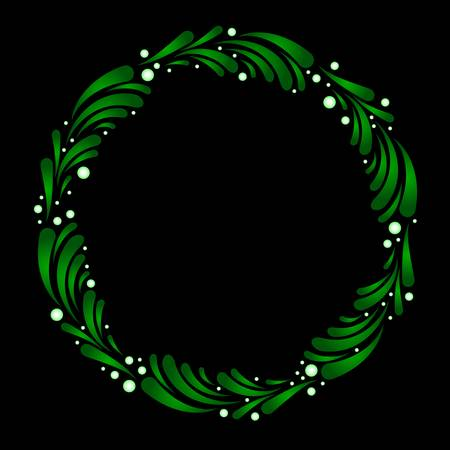 Wreath of stylized mistletoe