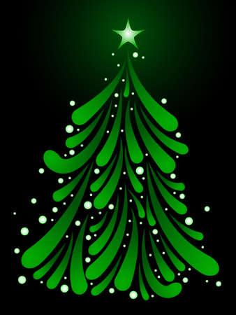 Maretak kerstboom Stock Illustratie
