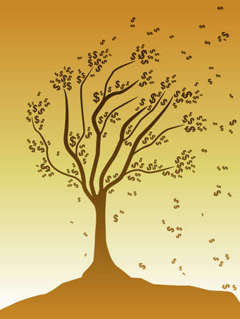 Money tree Stock Vector - 10554311