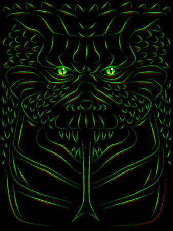 Monster sketch Vector