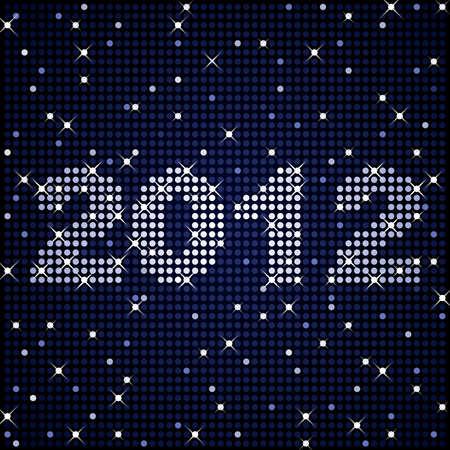 2012 年の輝きに  イラスト・ベクター素材