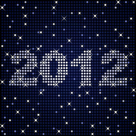 2012 in sparkles Stock Illustratie