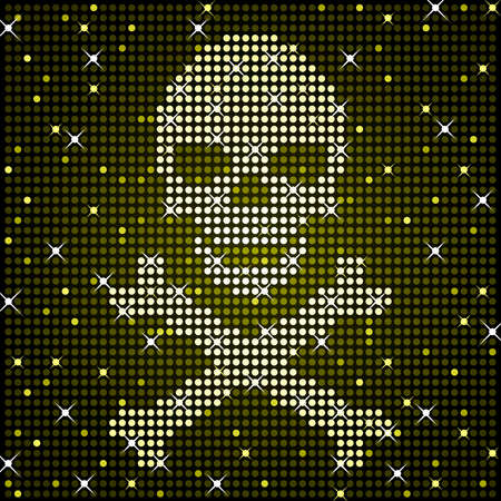 Sparkly skull Stock Vector - 10860961