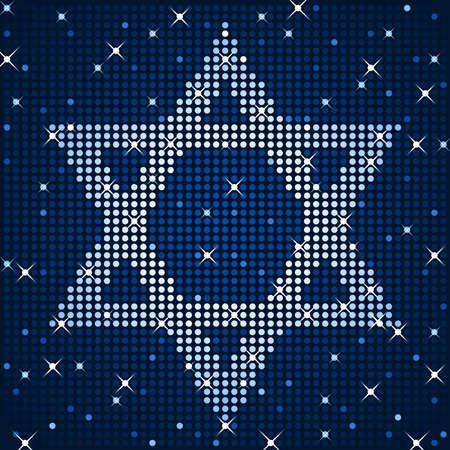 Sparkly star of david Vectores