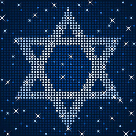 jewish star: Sparkly star of david Illustration