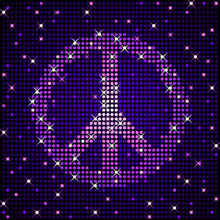 sign: Glittering peace sign Illustration