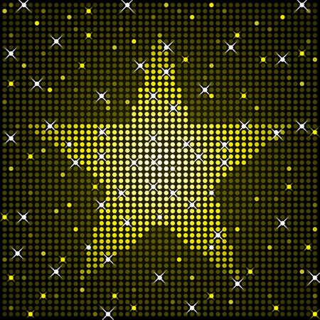 Sparkling star background Illustration