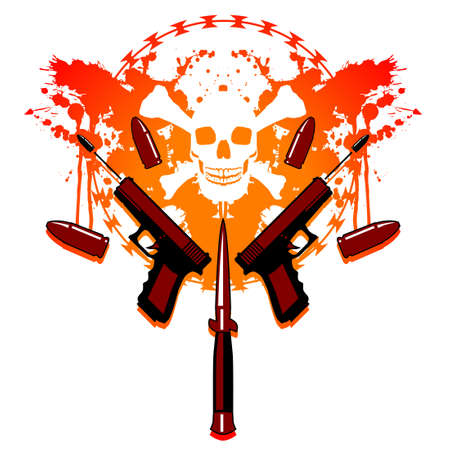 Bullets and blood Vector