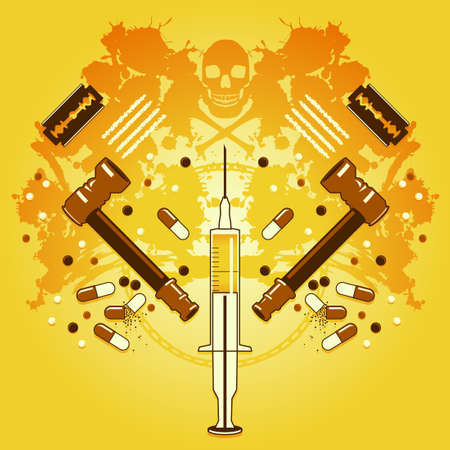 Drugs and death Stock Vector - 11527053
