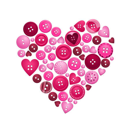 buttons of love Stock Vector - 12251161