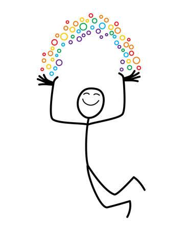 joyous: Rainbow hombre