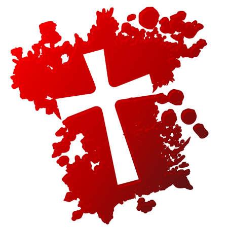grunge cross: Croce di sangue