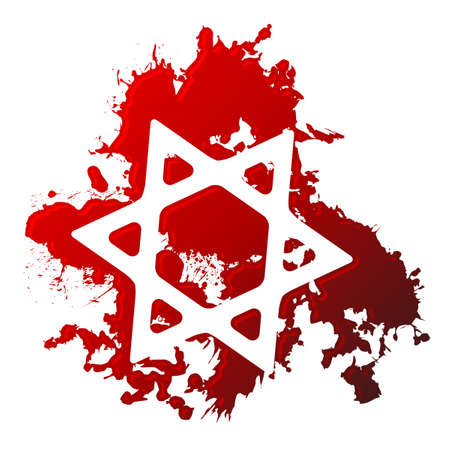 Blood star of david Vector