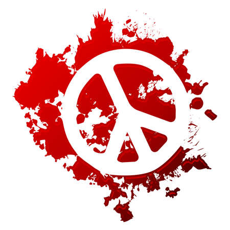 peace sign: Bloody Peace Illustration