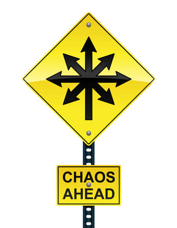 Chaos ahead sign Stock Vector - 12489481