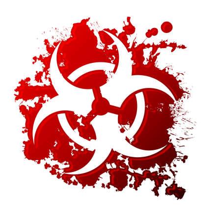 blutspritzer: Bio-Hazard-Blut Illustration