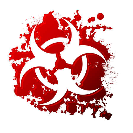 Bio peligro de la sangre Foto de archivo - 12489482
