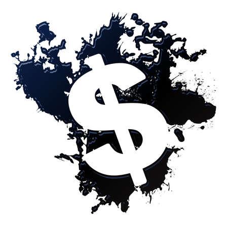 Oil dollar sign  イラスト・ベクター素材