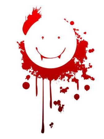 Smiling vampire symbol