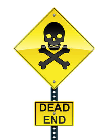 Dead end sign Stock Vector - 13025159