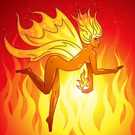 Fire fairy Ilustração