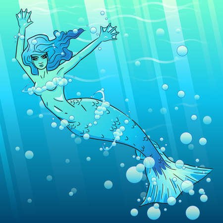 sea nymph: Water fairy Illustration