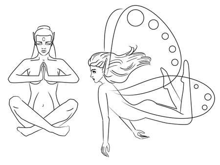 Simple fairy outlines