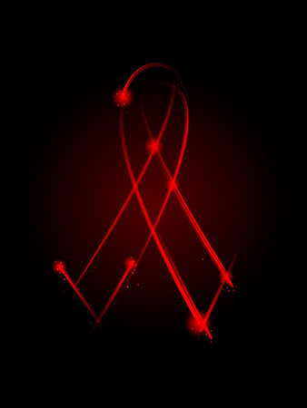 aids symbol: Red AIDS ribbon