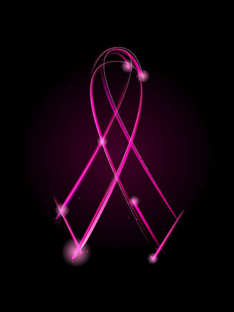 癌リボンをピンクします。  イラスト・ベクター素材
