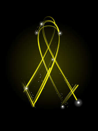 Yellow MIA ribbon Vector